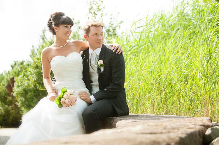 Hochzeitsportraits nah Emmendingen im Garten