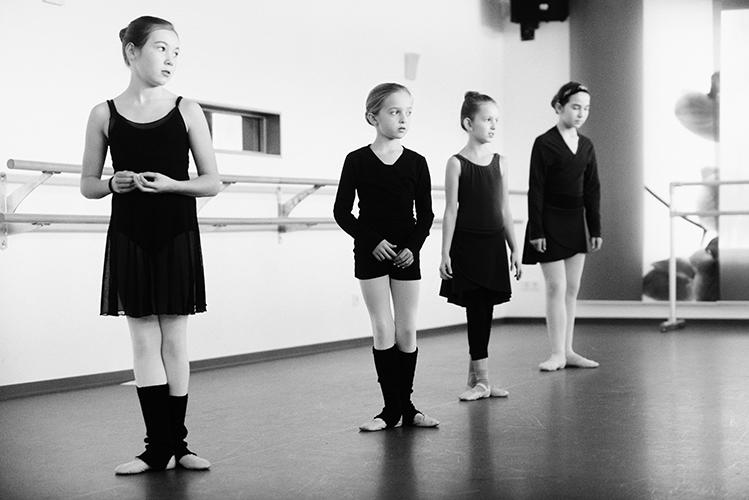 professionelles fotoshooting beim Ballettunterricht