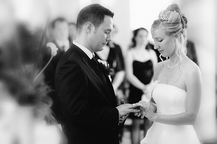 Hochzeitsreportage bei Achern, Ringübergabe