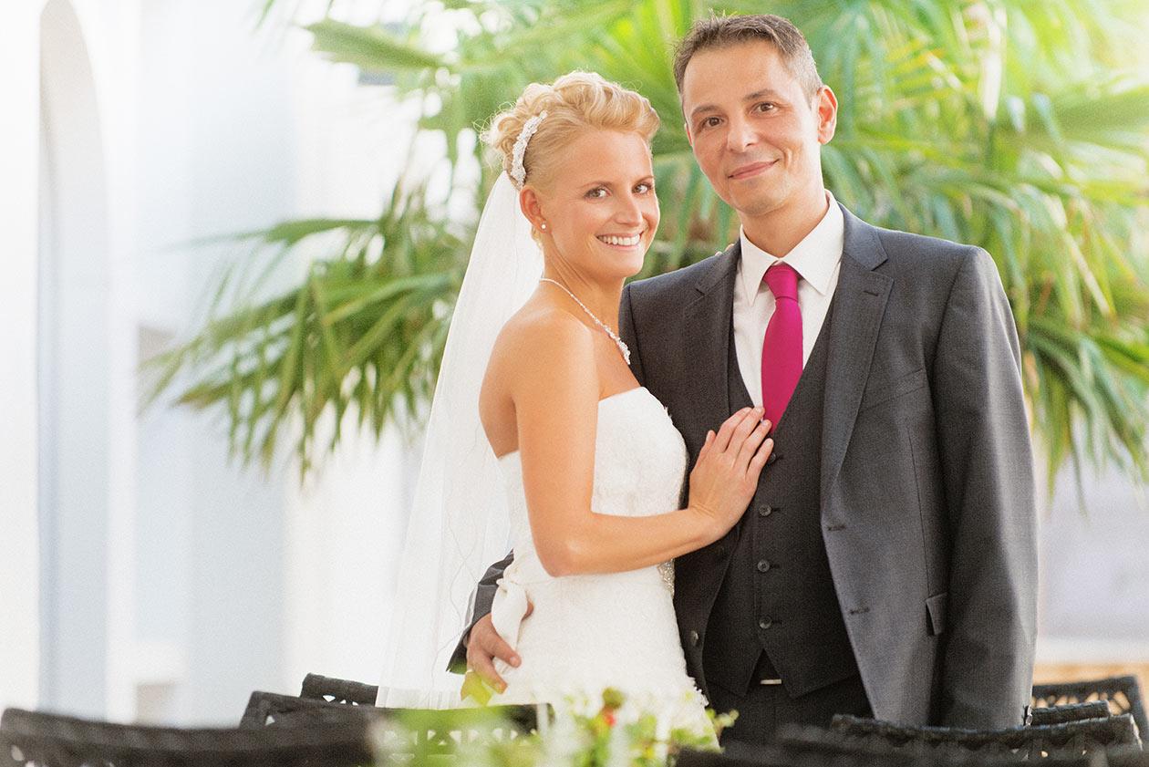 Brautpaar am Klosterkirche Birnau am Bodensee