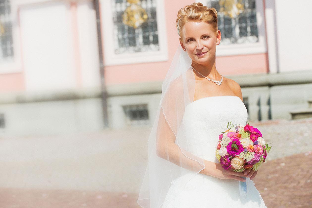Braut portraits vor Klosterkirche Birnau am Bodensee