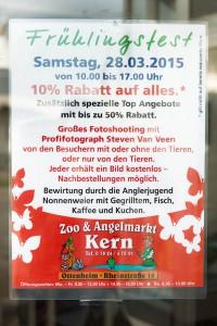Poster mit Werbung von Fotoaktion